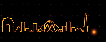 New Delhi Light Streak Skyline