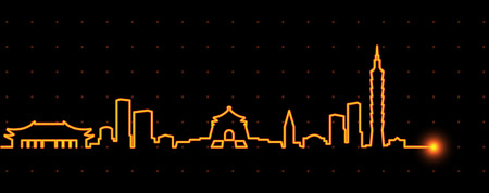 Taipei Light Streak Skyline Reklamní fotografie - 109521283