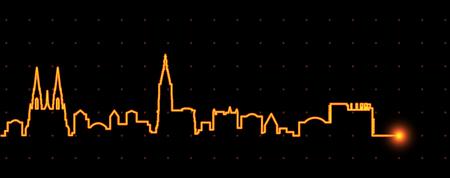 Straßburg Light Streak Skyline Vektorgrafik