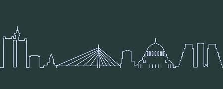 Belgrade Single Line Skyline