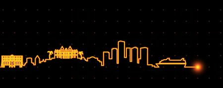 Monaco Light Streak Skyline