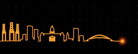 Durban Light Streak Skyline