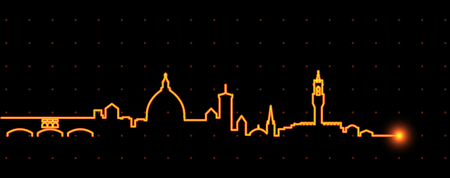 Florence Light Streak Skyline Illustration