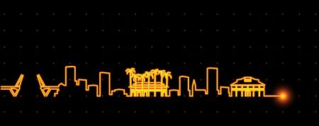 Fort Lauderdale Light Streak Skyline