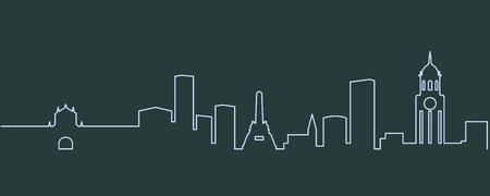 Manila Single Line Skyline