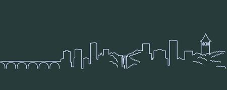 Minneapolis Single Line Skyline