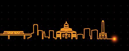 Addis Ababa Light Streak Skyline Illustration