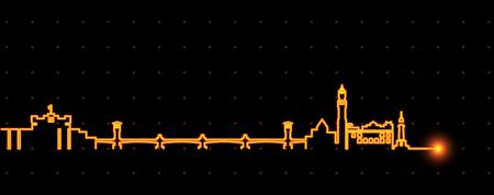 Alexandria Light Streak Skyline