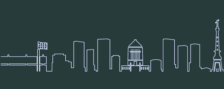 Indianapolis Single Line Skyline