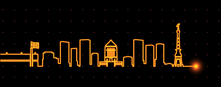 Indianapolis Light Streak Skyline