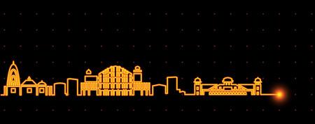 Jaipur Light Streak Skyline
