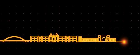 Novosibirsk Light Streak Skyline 向量圖像