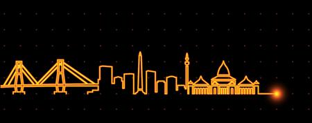 Surabaya Light Streak Skyline