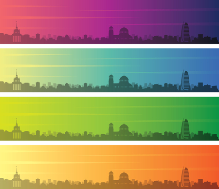 Sofia Multiple Color Gradient Skyline Banner