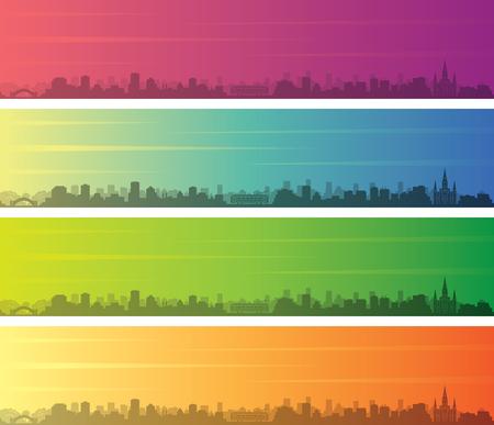 New Orleans Multiple Color Gradient Skyline Banner