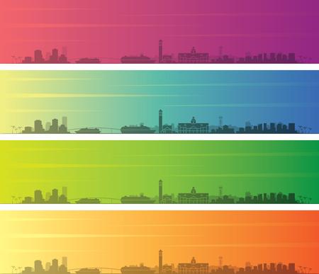 Nassau Multiple Color Gradient Skyline Banner