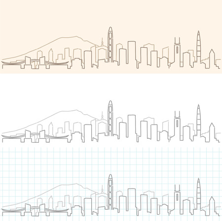 Shenzhen Hand Drawn Skyline 일러스트