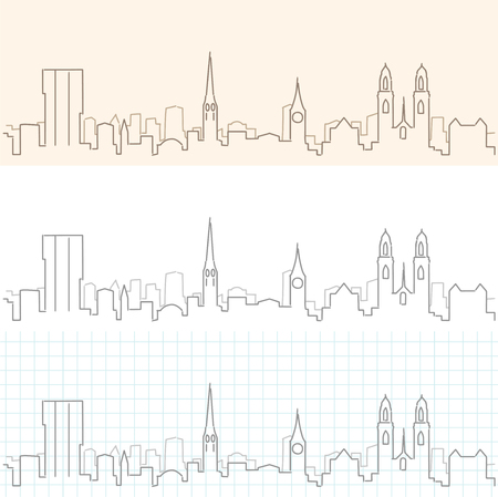 Zurich Hand Drawn Skyline