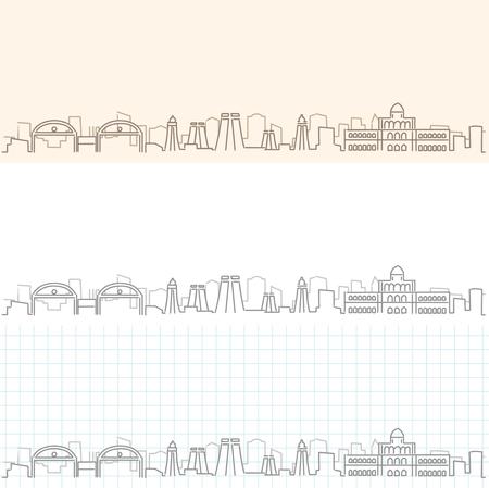 Madurai Hand Drawn Skyline