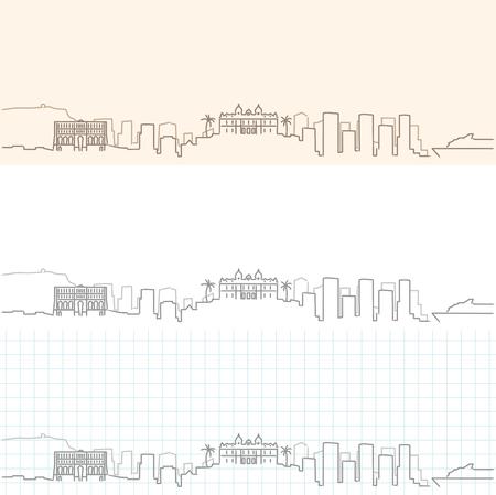 Monaco Hand Drawn Skyline