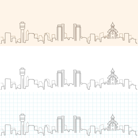 Dar Es Salaam Hand Drawn Skyline