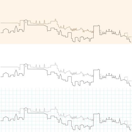Granada Hand Drawn Skyline Иллюстрация