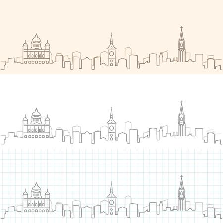 Bern Hand Drawn Skyline