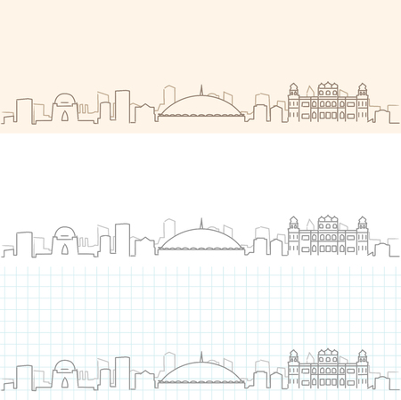 Karachi Hand Drawn Skyline
