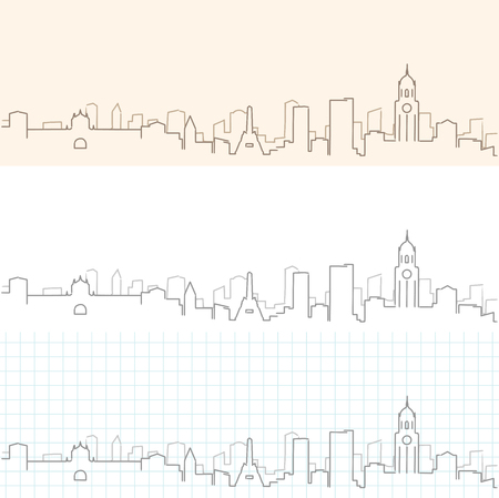 Manila Hand Drawn Skyline Illustration