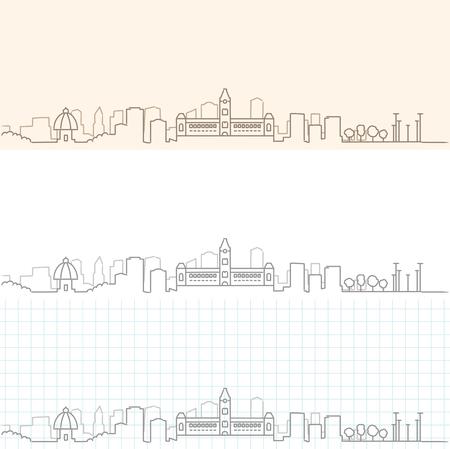 Chennai Hand Drawn Skyline