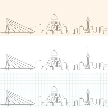 Harbin Hand Drawn Skyline