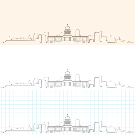 Havana Hand Drawn Skyline Иллюстрация