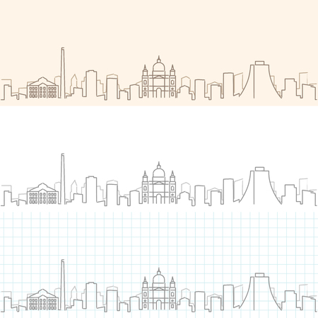 Porto Alegre Hand Drawn Skyline