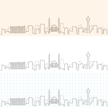 Ankara Hand Drawn Skyline