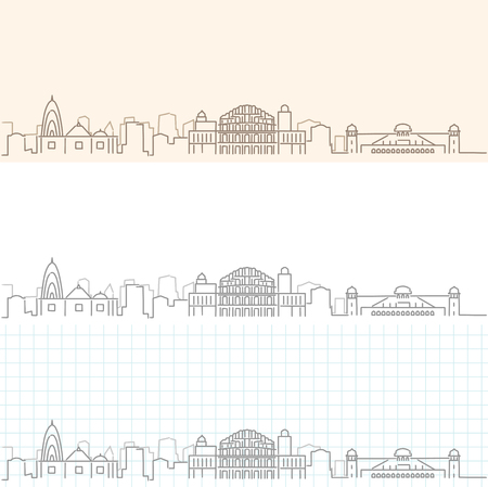 Jaipur Hand Drawn Skyline