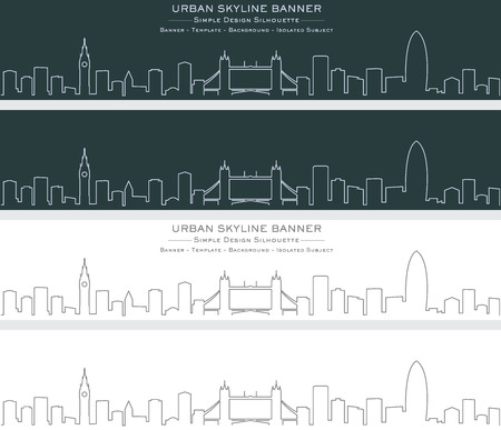 London Single Line Skyline Banner