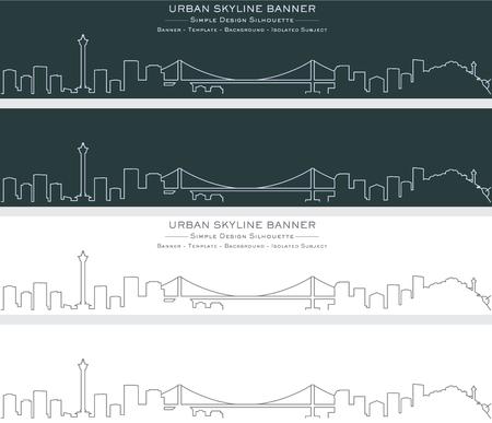 Busan Single Line Skyline Banner