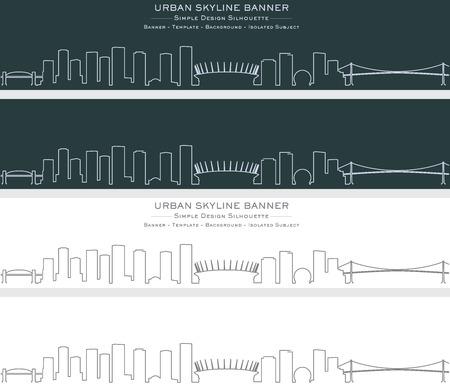 Vancouver Single Line Skyline Banner