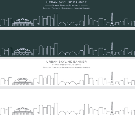 Milwaukee Single Line Skyline Banner