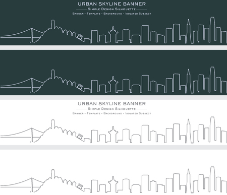 San Francisco Single Line Skyline Banner