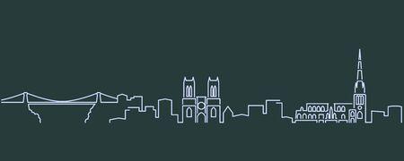 Bristol Single Line Skyline Profile
