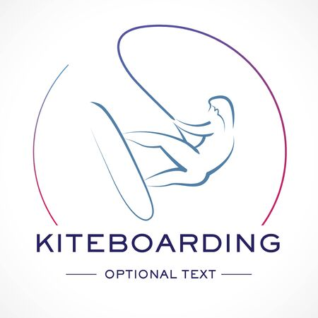 Kitesurfing Logo and Text for Designs