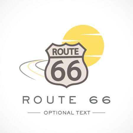 Route 66 Logo and Text for Designs