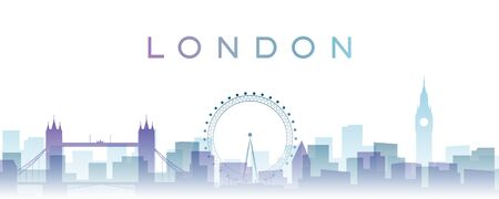 London Transparent Layers Gradient Landmarks Skyline