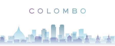 Colombo Transparent Layers Gradient Landmarks Skyline