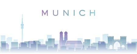 Munich Transparent Layers Gradient Landmarks Skyline