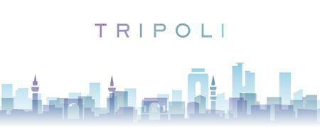Tripoli Transparent Layers Gradient Landmarks Skyline
