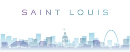 Saint Louis Transparent Layers Gradient Landmarks Skyline