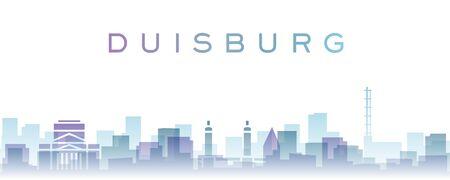 Duisburg Transparent Layers Gradient Landmarks Skyline 写真素材