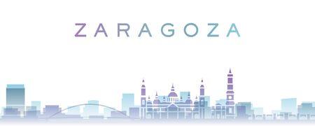 Zaragoza Transparent Layers Gradient Landmarks Skyline 写真素材
